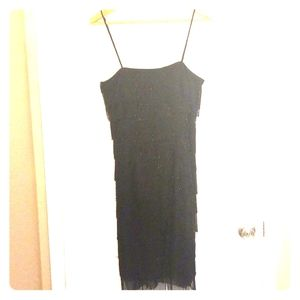JS Collections Spaghetti Strap LBD